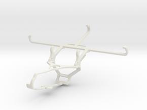 Controller mount for Steam & Xiaomi Poco C3 - Fron in White Natural Versatile Plastic