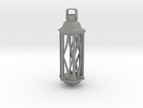 Fire and Lantern Ring: Piece 1 out of 3 - Lantern  in Gray PA12: Small