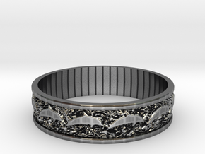 Dolphin Bangle - Simplified in Antique Silver