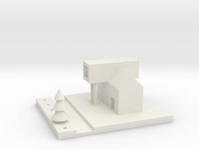 House Miniature in White Natural Versatile Plastic