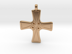 Cross pendant from Langley with Hardley in Polished Bronze