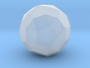 Rhombicosidodecahedron - 10mm in Smooth Fine Detail Plastic