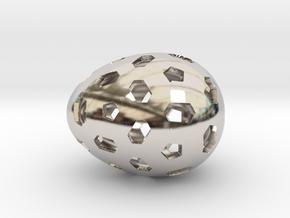 Mosaic Egg #1 in Platinum