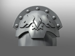 Honoris pattern shoulder pads: Sons of Mordekai in Smooth Fine Detail Plastic: Small