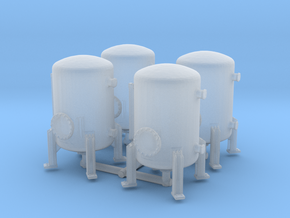 Autoclave Pressure Tank (x4) 1/285 in Smooth Fine Detail Plastic