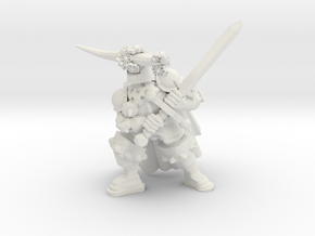 Torero Knight in White Natural Versatile Plastic