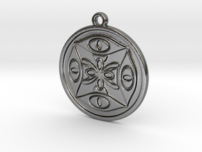 Abstract pendant in Polished Silver