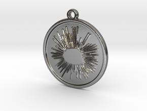 Sea urchin in Polished Silver