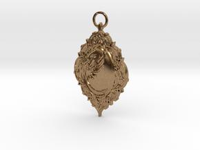 Phoenix Rising Pendant in Natural Brass