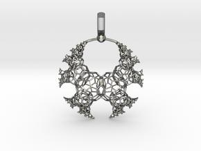 Kleinian Fractal wireframe v2 in Polished Silver