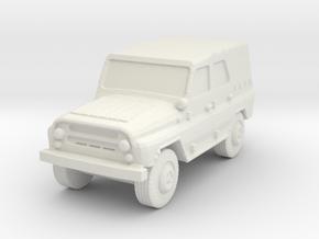 UAZ-469 (closed) 1/100 in White Natural Versatile Plastic
