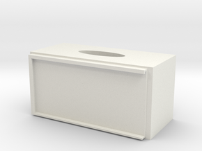 Memories Hygienic Paper Box in White Natural Versatile Plastic: Small