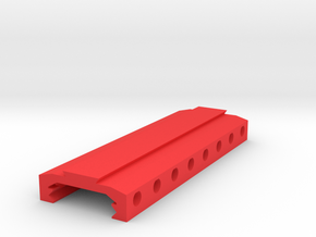 Picatinny to Dovetail Rail Adapter (8 Slots) in Red Processed Versatile Plastic