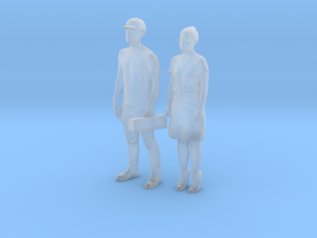 Printle S Couple 285 - 1/87 - wob in Smooth Fine Detail Plastic