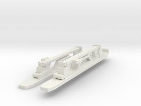 EFE 1938 LT Underground train bogie side frames in White Natural Versatile Plastic