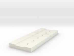 16mm Splicing Block in White Natural Versatile Plastic