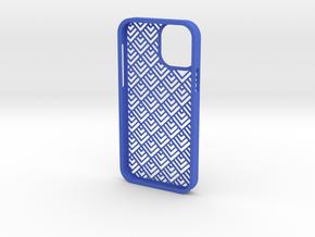 iPhone12_cover_design_6 in Blue Processed Versatile Plastic
