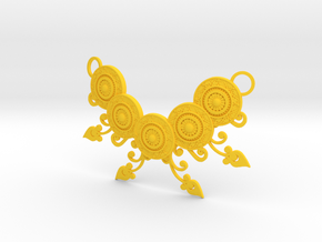 Ornamental Floral Necklace in Yellow Processed Versatile Plastic