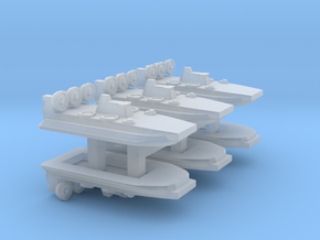Zubr-Class LCAC x 6, 1/3000 in Smooth Fine Detail Plastic