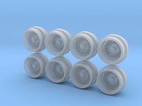Work EXC Mesh 7-5 Hot Wheels Rims in Smooth Fine Detail Plastic