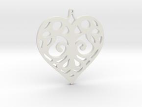 Heart Pendant Tiffanys Enchant Style in White Natural Versatile Plastic