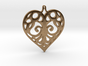 Heart Pendant Tiffanys Enchant Style in Natural Brass