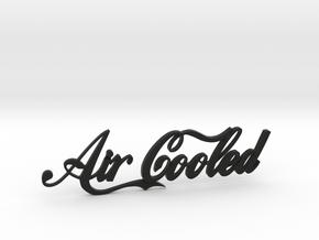 Aircooled Badge in Black Premium Versatile Plastic