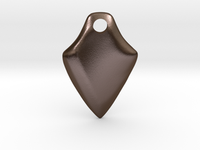 Twisted Thicc Pick ~1.7mm (UP twist) Wrist-Saver in Polished Bronze Steel