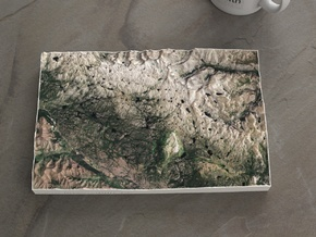 Beartooth, Montana/Wyoming, USA, 1:150000 in Natural Full Color Sandstone