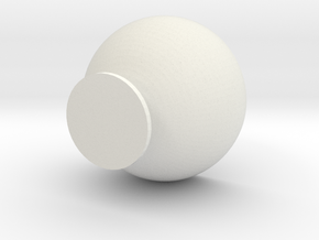 Goblet_pot in White Natural Versatile Plastic