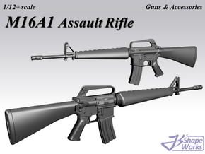 1/9 M16A1 Assault Rifle in Smooth Fine Detail Plastic
