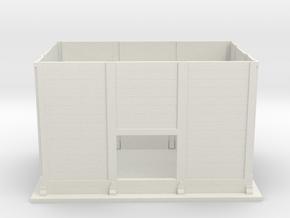 Concrete lineside hut in White Natural Versatile Plastic