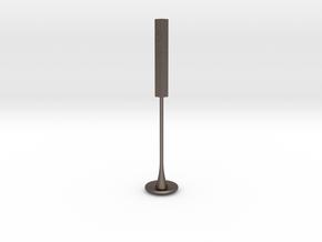 Hex Tamper in Polished Bronzed Silver Steel