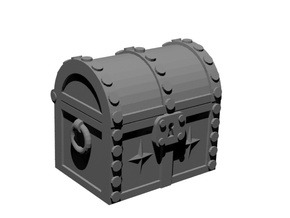 Fantasy chest 28mm (10 pieces) in Smooth Fine Detail Plastic