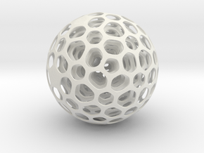 Kinetic Sculpture Ball in White Natural Versatile Plastic