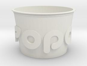 Popcorn Vase in White Natural Versatile Plastic