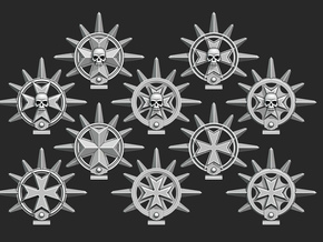 Maltese Cross Iron Halos in Smooth Fine Detail Plastic