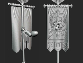 UM 3rd Company banner - Scourge of the Xenos in Smooth Fine Detail Plastic: Medium