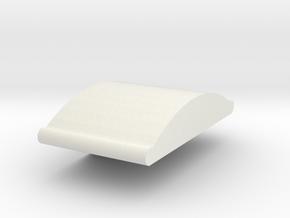 Crossbow rocker in White Natural Versatile Plastic