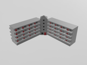 Residential Complex 1/1000 in Smooth Fine Detail Plastic