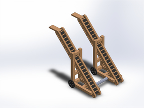 2 COAL CONVEYORS in Smooth Fine Detail Plastic