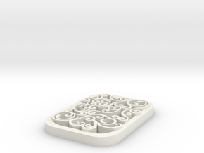 square swirl pendant 1 in White Natural Versatile Plastic