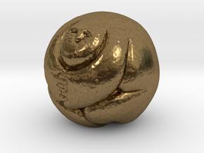 Round Man 25 Mm in Natural Bronze