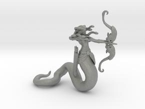 Medusa miniature model fantasy game dnd rpg gorgon in Gray PA12