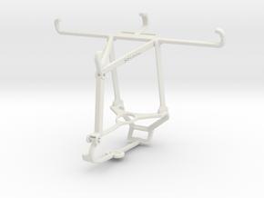 Controller mount for Steam & HTC Wildfire E1 lite  in White Natural Versatile Plastic
