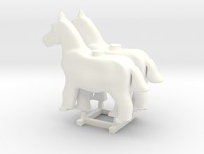 2 x Foal in White Processed Versatile Plastic