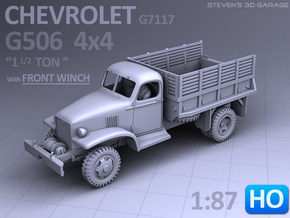 Chevrolet G506 4x4 Truck (front-winch) - (1:87 HO) in Smoothest Fine Detail Plastic