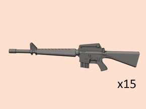 1/24 scale M16A1 rifle in Smooth Fine Detail Plastic