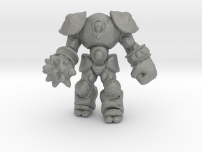Golem Enforcer miniature model fantasy games dnd in Gray PA12