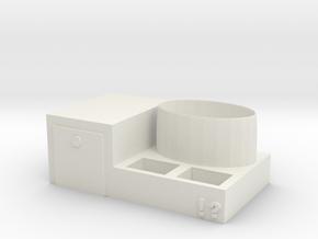 Pen holder storage box in White Natural Versatile Plastic